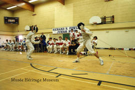 Fencing match in Richard Fowler school