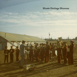 Marching band practice, Apr 1971