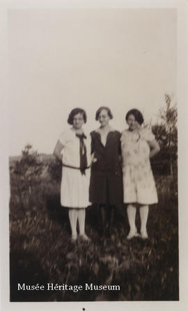 Florence Gagne, Cecile Rivest, and Aurore Gagne