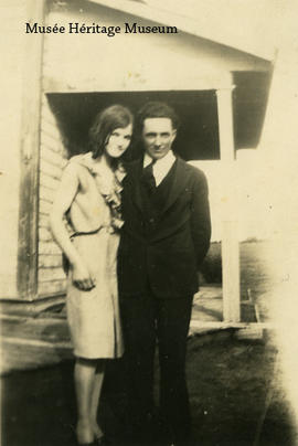 [Bernadette Vaugeois?] and unidentified man, 1931