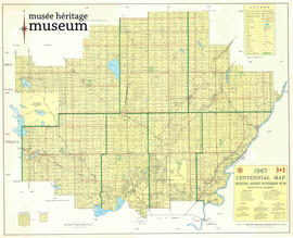 1967 Centennial Map, Municipal District of Sturgeon No 90