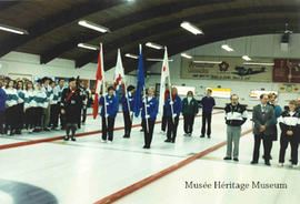 Curling event opening ceremony