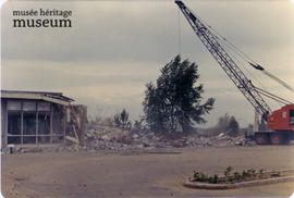 Demolition of the Centennial Library