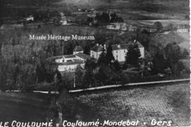 Aerial view of Chateau du Couloume
