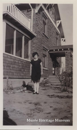 Florence Gagne at Frank Wild's house