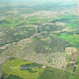 Aerial of St. Albert looking south, 8 Jul 1997