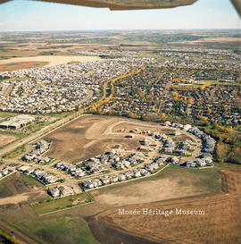 Aerial of Giroux road looking northeast, 18 Sep 1997