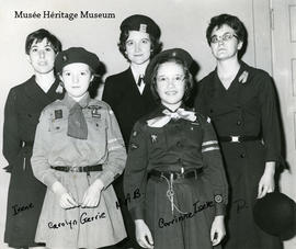 Pauline Vaugeois with Girl Guides, [196--197-] - p. 3