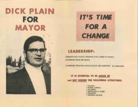 Election campaign flyers