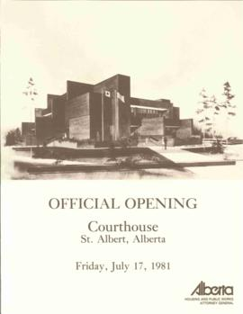 Courthouse opening program, 17 Jul 1981