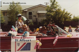 St. Albert Citizen's Committee car in anti-annexation parade