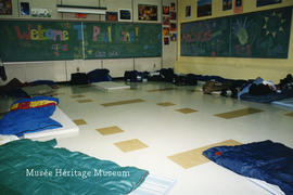 Athlete's sleeping area in Paul Kane school