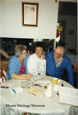 Bernadette Vaugeois, Cecilia Tardif, and Fred Kemps, 1988