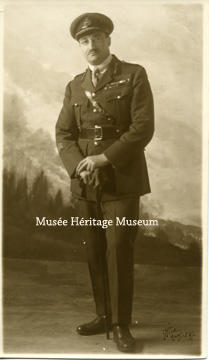 Brutinel standing in military uniform
