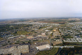 Aerial view of St. Albert facing north
