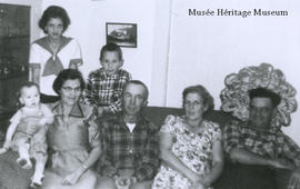 Florence Gagne with family