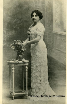 Portrait of Marie Calamun standing