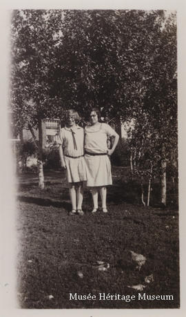 Cecile Rivest and Florence Gagne