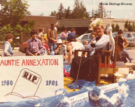 """Auntie Annexation"" in anti-annexation parade"